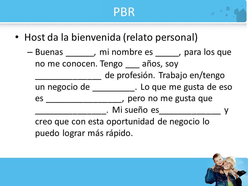 PBR Host da la bienvenida (relato personal)