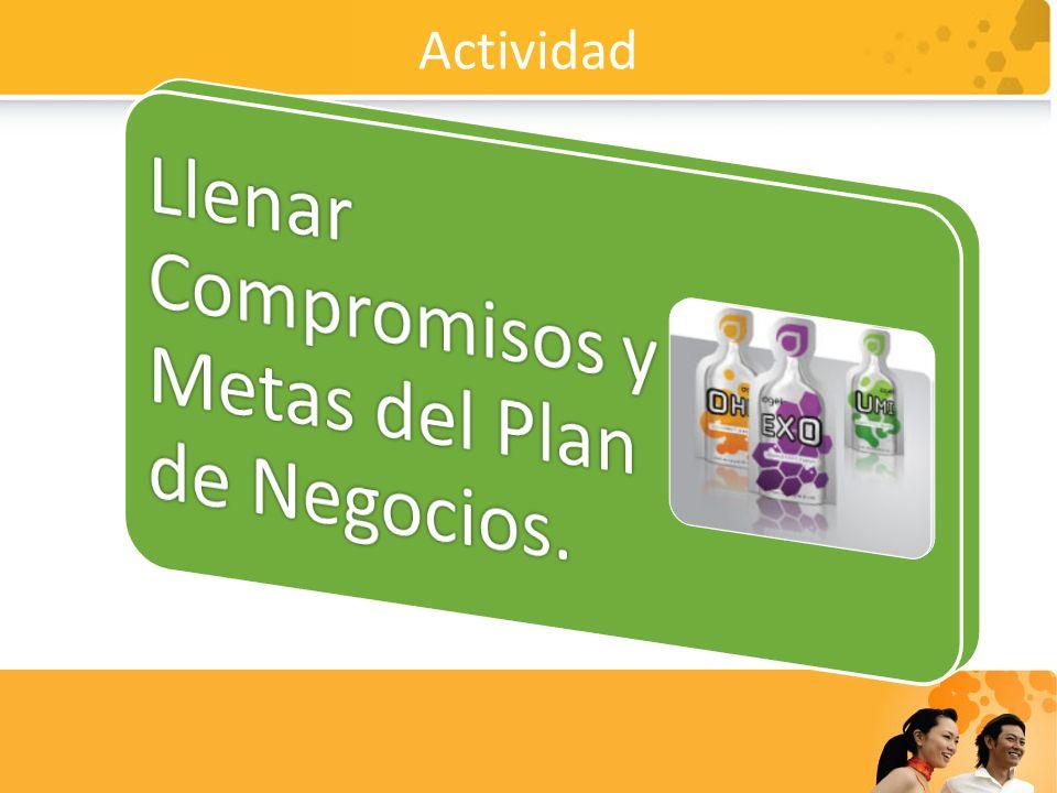 Actividad Llenar Compromisos y Metas del Plan de Negocios.
