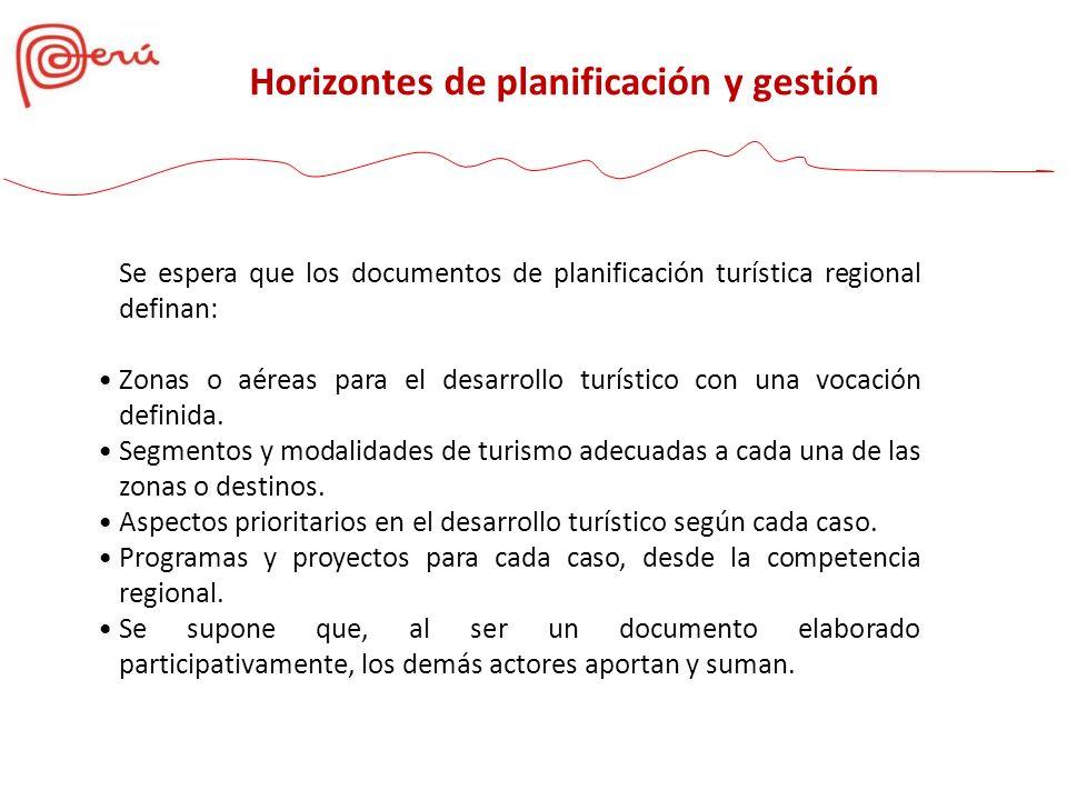 Horizontes de planificación y gestión