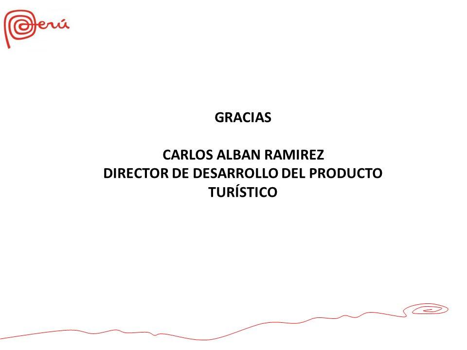 DIRECTOR DE DESARROLLO DEL PRODUCTO TURÍSTICO