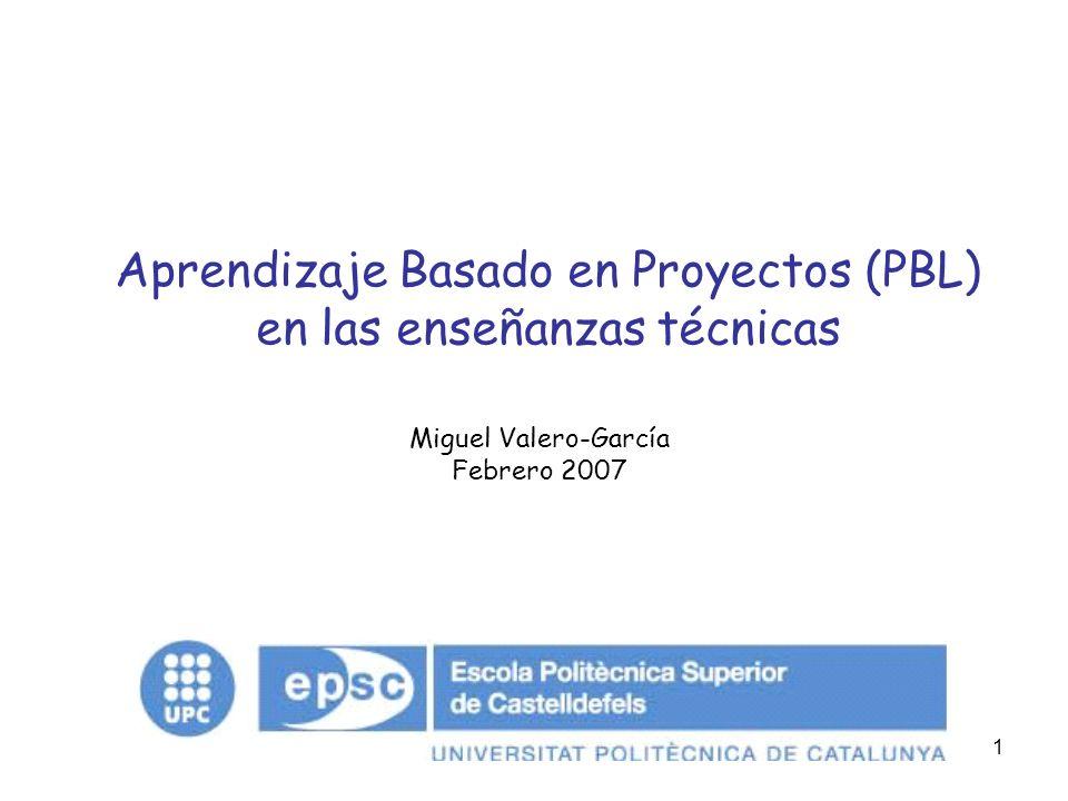 Aprendizaje Basado en Proyectos (PBL) en las enseñanzas técnicas