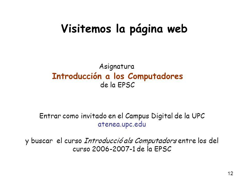 Visitemos la página web Introducción a los Computadores