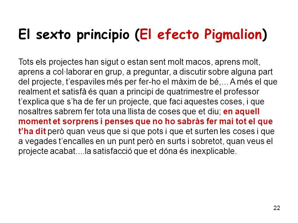 El sexto principio (El efecto Pigmalion)