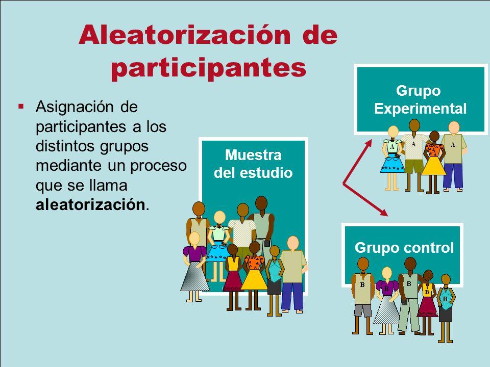 Aleatorización de participantes