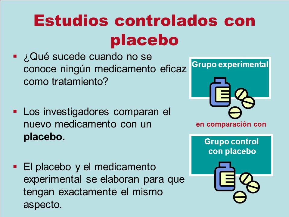 Estudios controlados con placebo