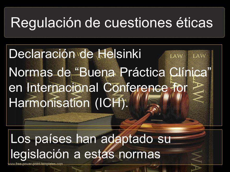 Regulación de cuestiones éticas