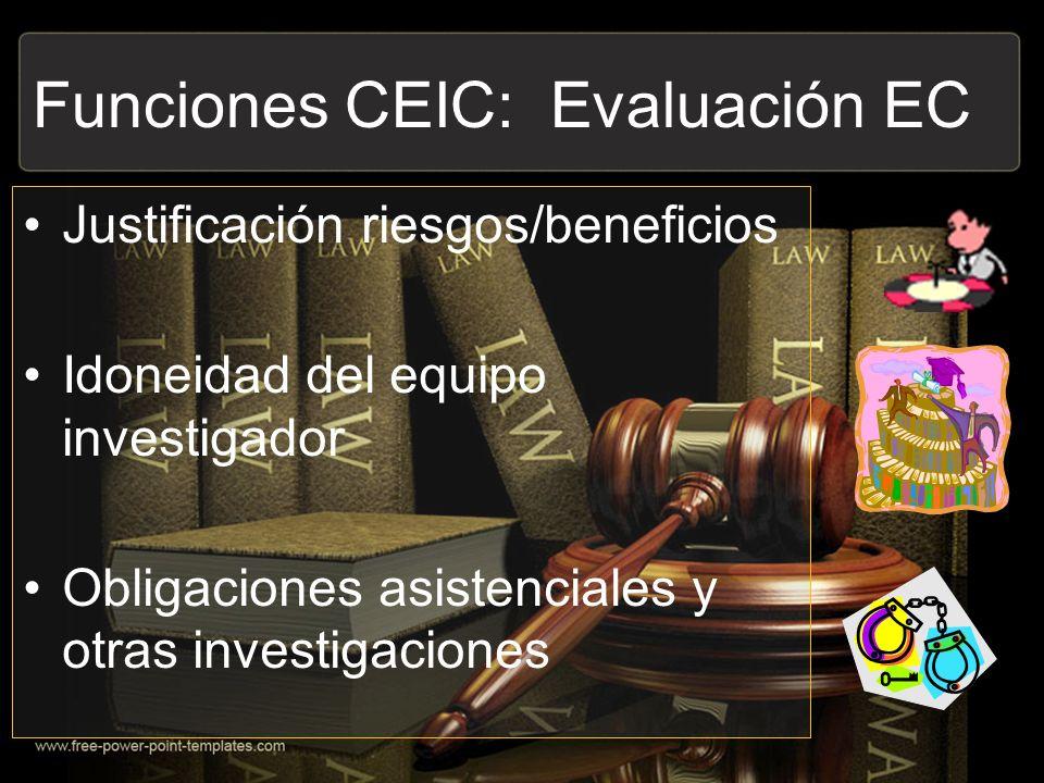 Funciones CEIC: Evaluación EC