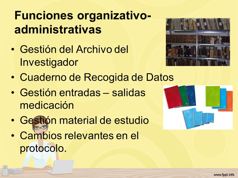 Funciones organizativo-administrativas