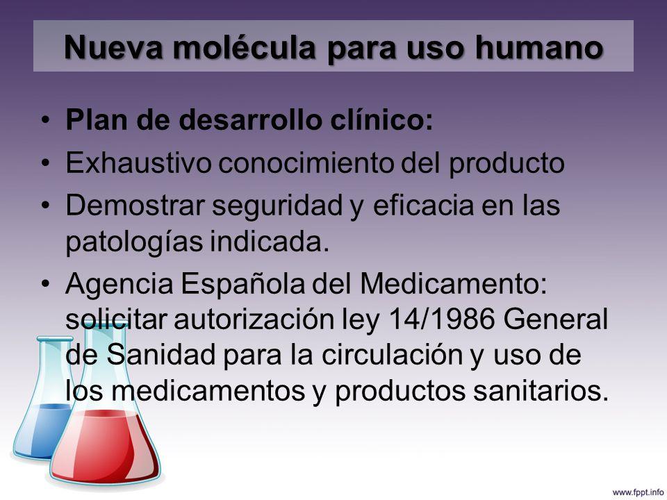 Nueva molécula para uso humano