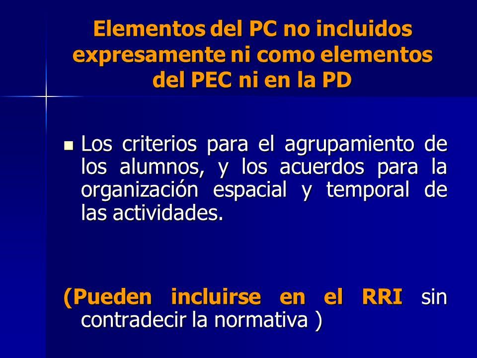 (Pueden incluirse en el RRI sin contradecir la normativa )
