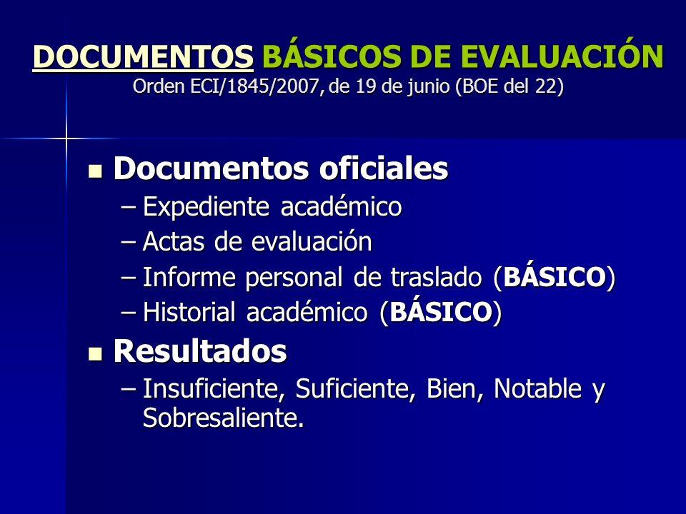 Documentos oficiales Resultados