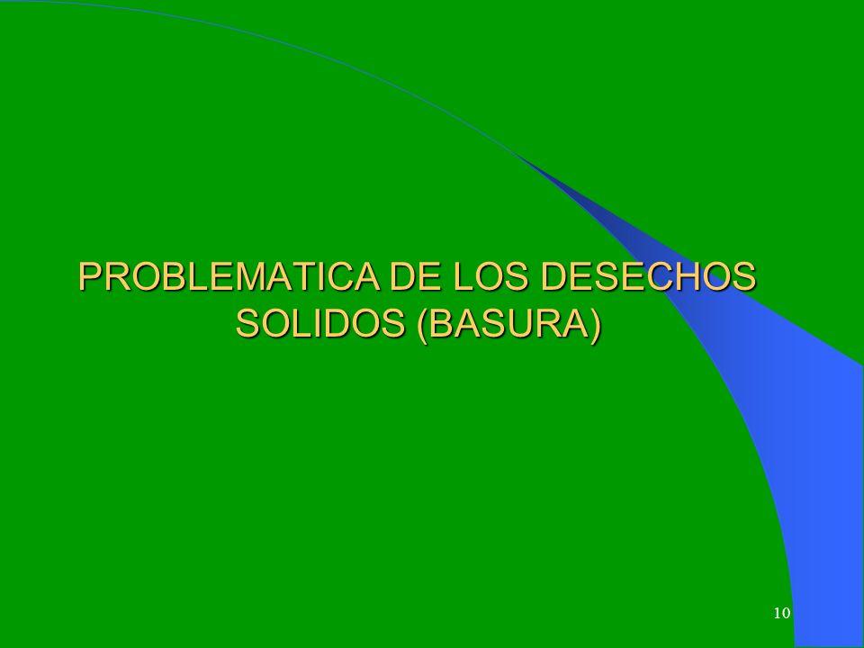 PROBLEMATICA DE LOS DESECHOS SOLIDOS (BASURA)