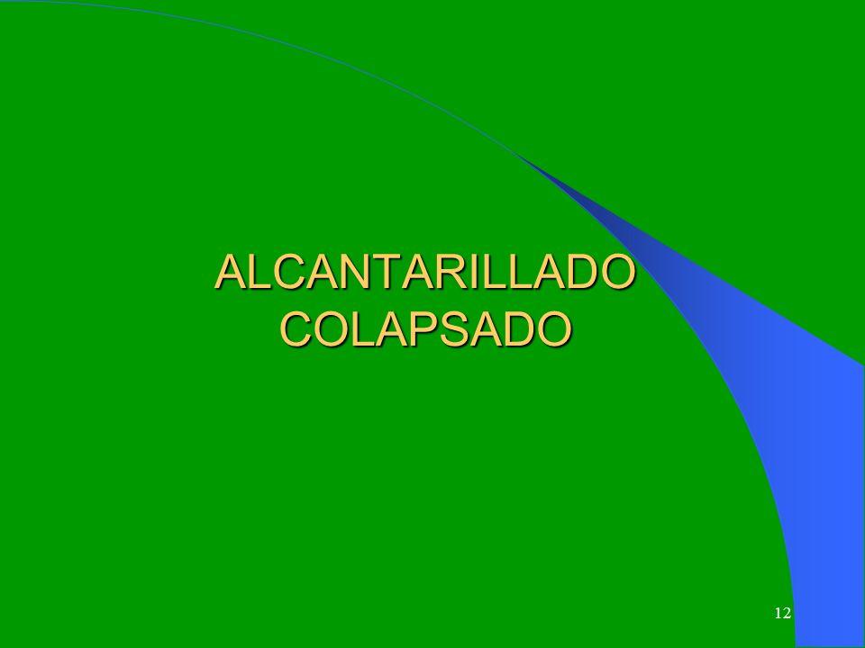ALCANTARILLADO COLAPSADO