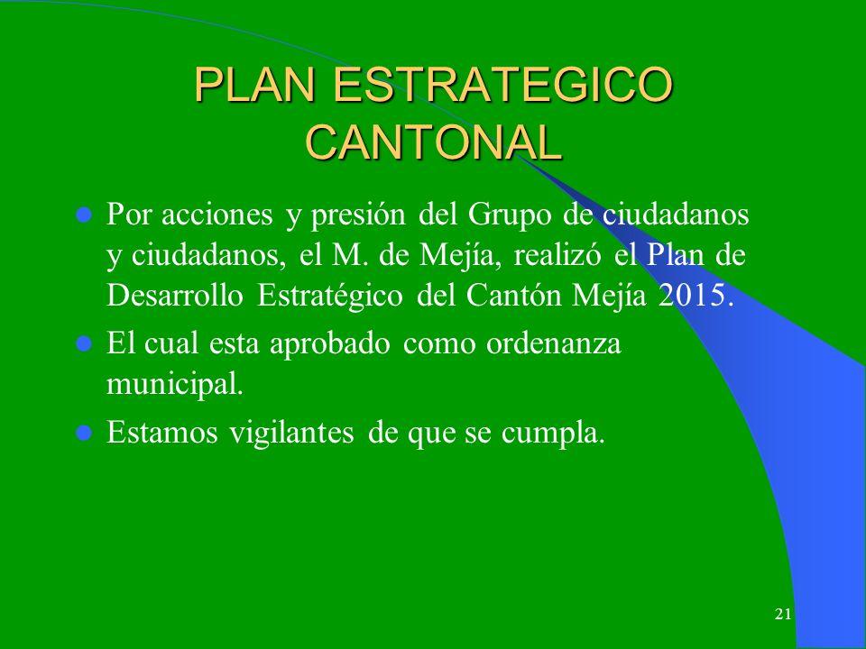 PLAN ESTRATEGICO CANTONAL