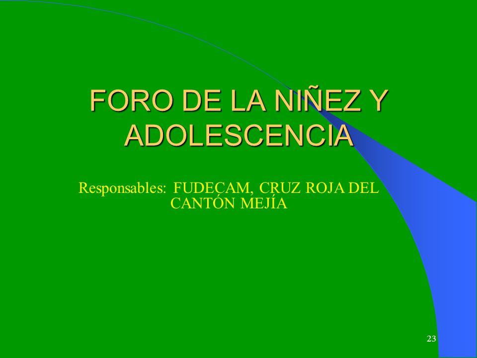 FORO DE LA NIÑEZ Y ADOLESCENCIA