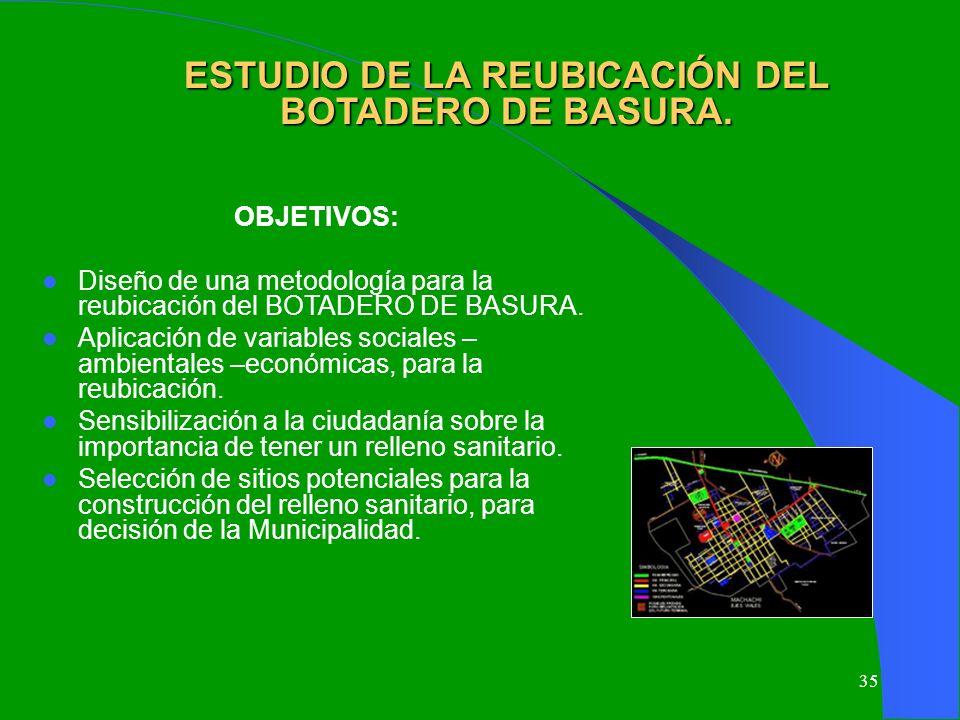 ESTUDIO DE LA REUBICACIÓN DEL BOTADERO DE BASURA.