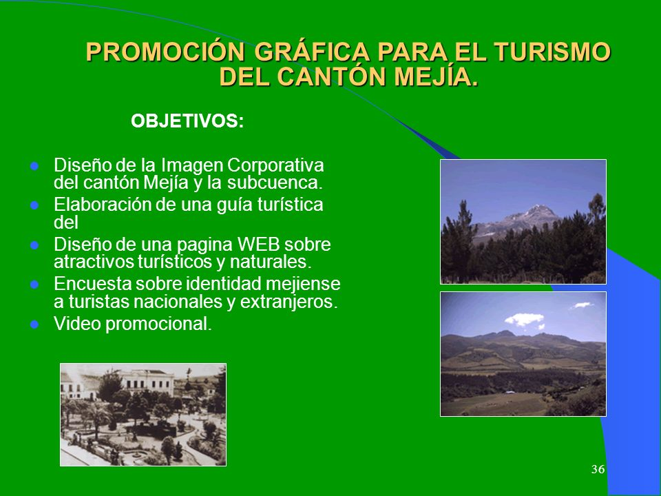 PROMOCIÓN GRÁFICA PARA EL TURISMO DEL CANTÓN MEJÍA.
