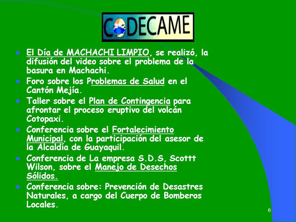 El Día de MACHACHI LIMPIO, se realizó, la difusión del video sobre el problema de la basura en Machachi.