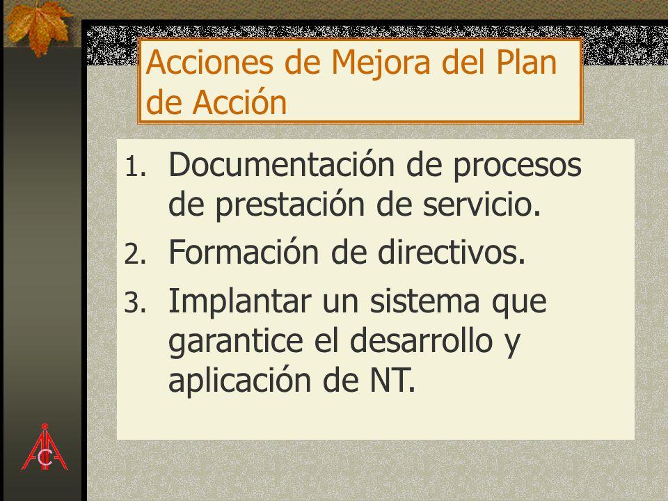 Acciones de Mejora del Plan de Acción
