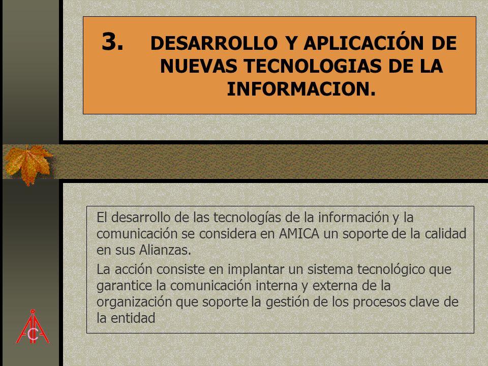 DESARROLLO Y APLICACIÓN DE NUEVAS TECNOLOGIAS DE LA INFORMACION.
