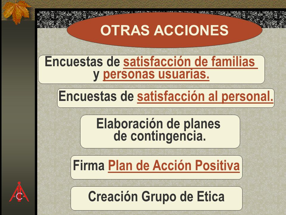 Encuestas de satisfacción de familias y personas usuarias.