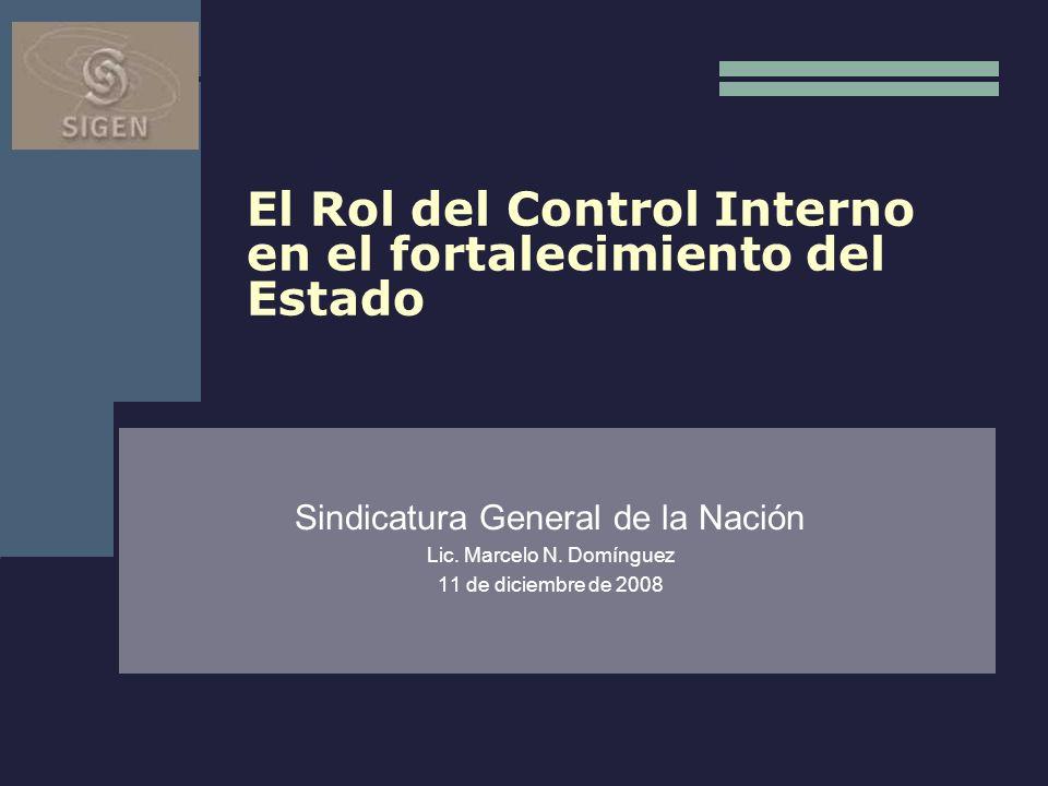 El Rol del Control Interno en el fortalecimiento del Estado