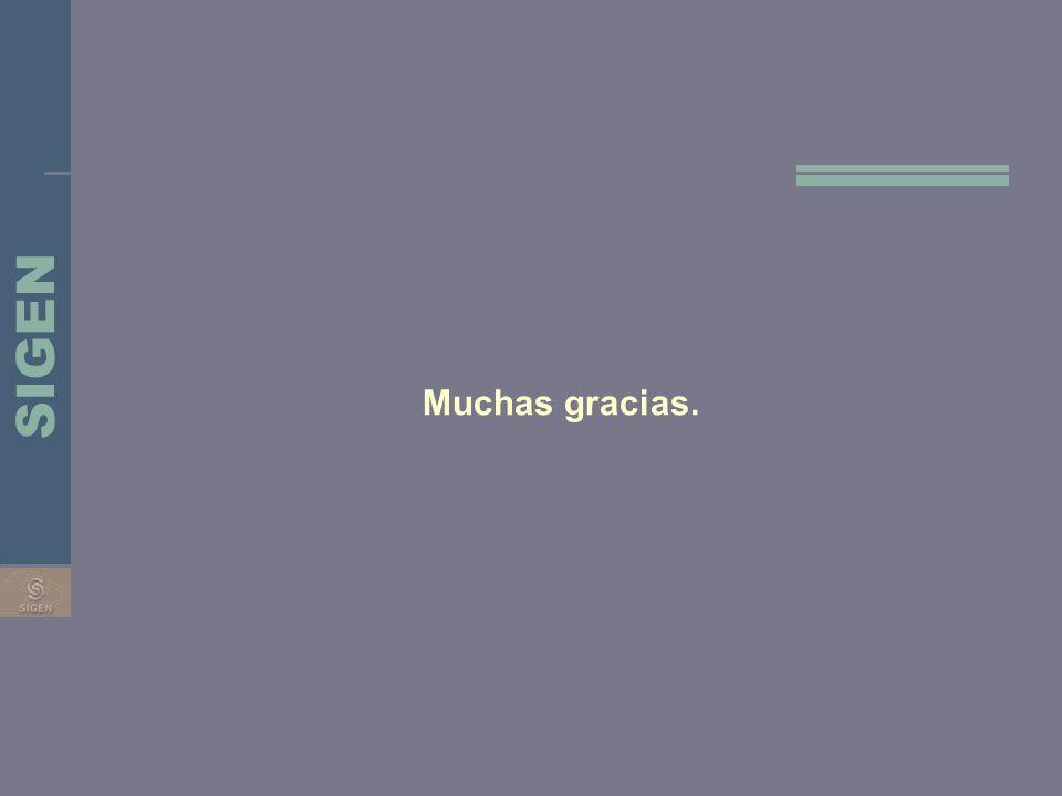 SIGEN Muchas gracias.
