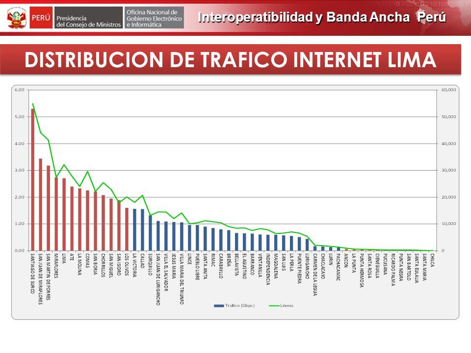 DISTRIBUCION DE TRAFICO INTERNET LIMA
