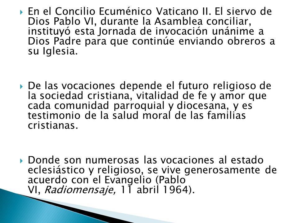 En el Concilio Ecuménico Vaticano II