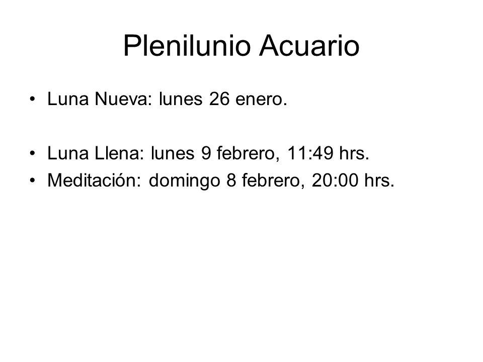 Plenilunio Acuario Luna Nueva: lunes 26 enero.