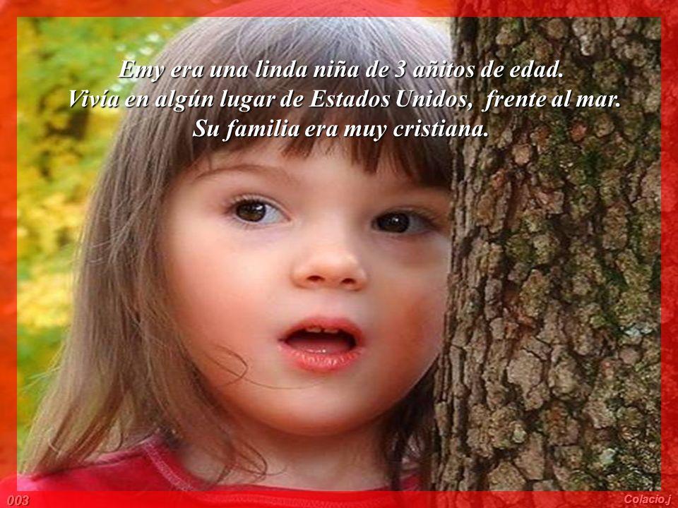 Emy era una linda niña de 3 añitos de edad.