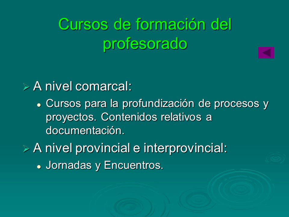 Cursos de formación del profesorado