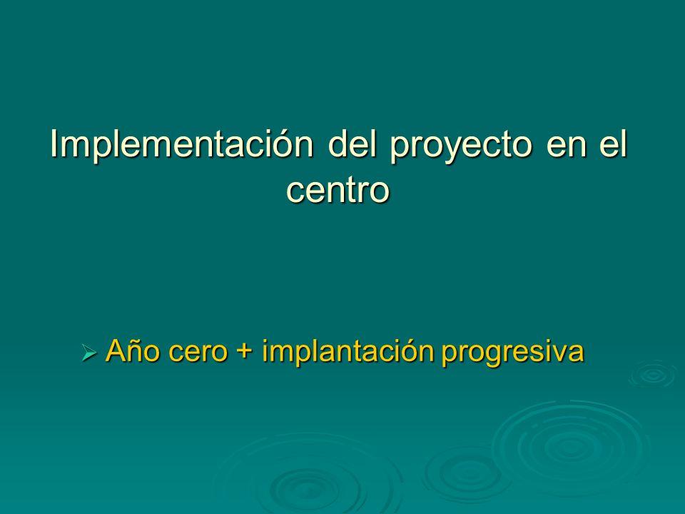 Implementación del proyecto en el centro