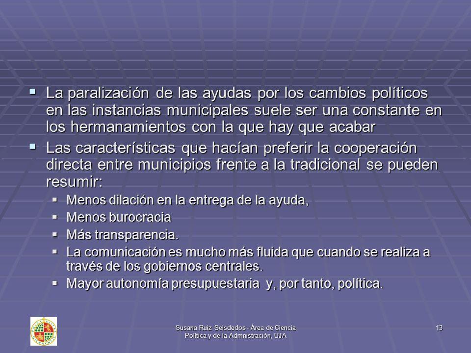 La paralización de las ayudas por los cambios políticos en las instancias municipales suele ser una constante en los hermanamientos con la que hay que acabar