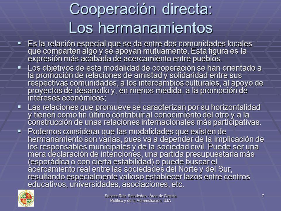 Cooperación directa: Los hermanamientos