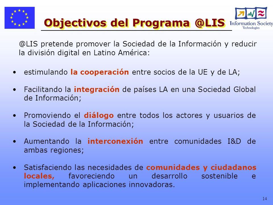 Objectivos del Programa @LIS