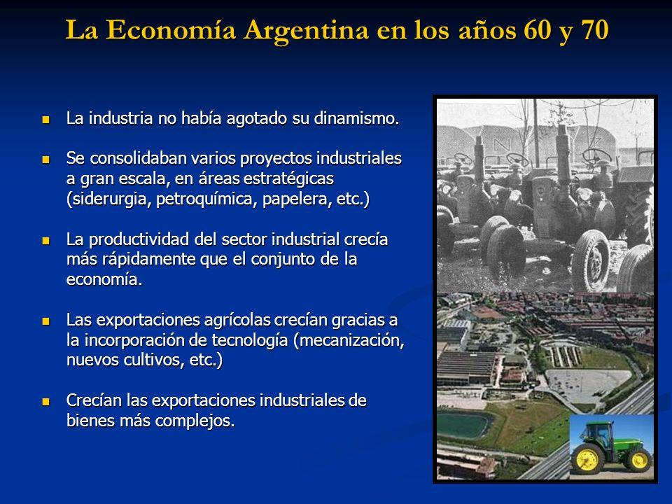 La Economía Argentina en los años 60 y 70