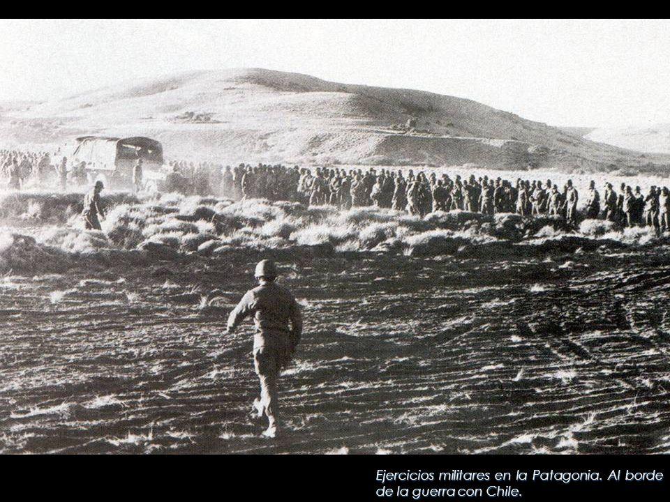 Ejercicios militares en la Patagonia. Al borde de la guerra con Chile.