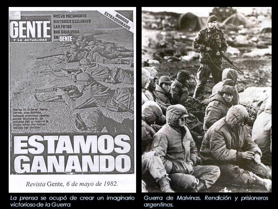 La prensa se ocupó de crear un imaginario victorioso de la Guerra