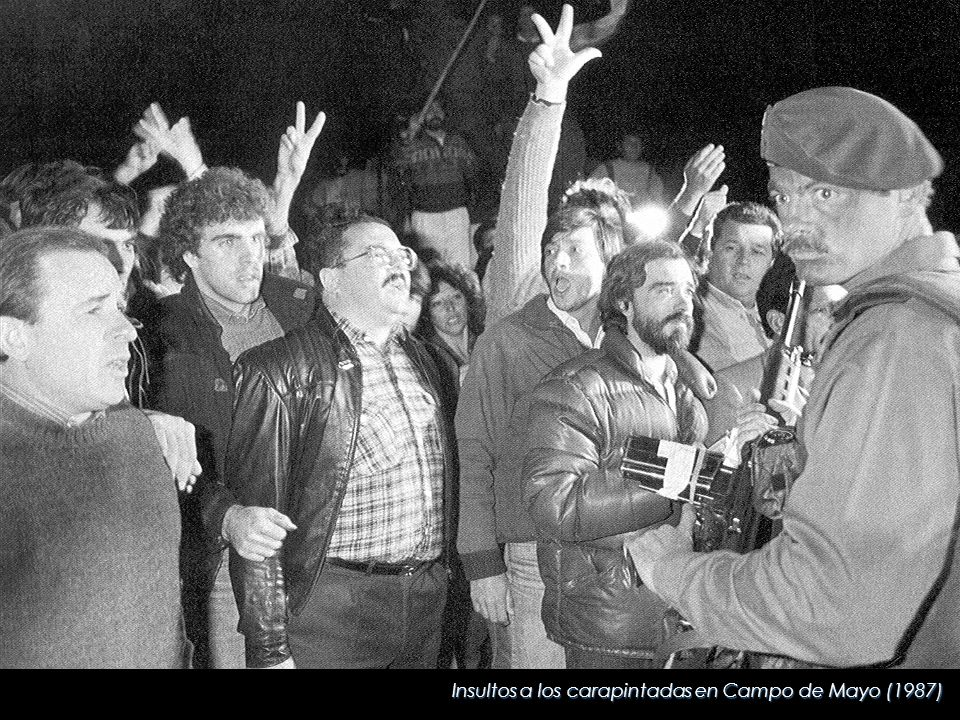Insultos a los carapintadas en Campo de Mayo (1987)