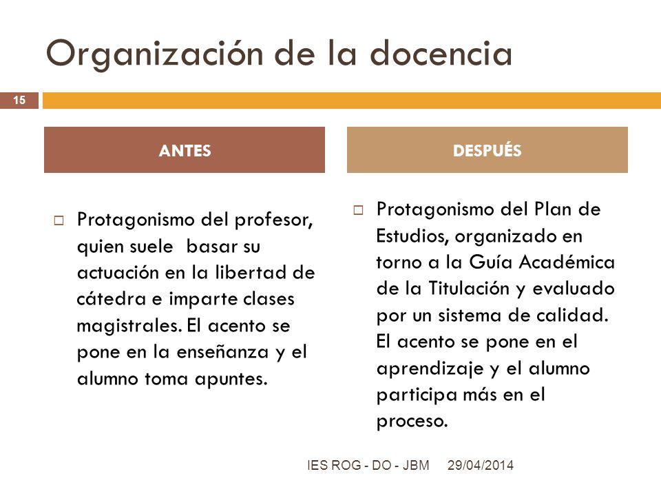 Organización de la docencia