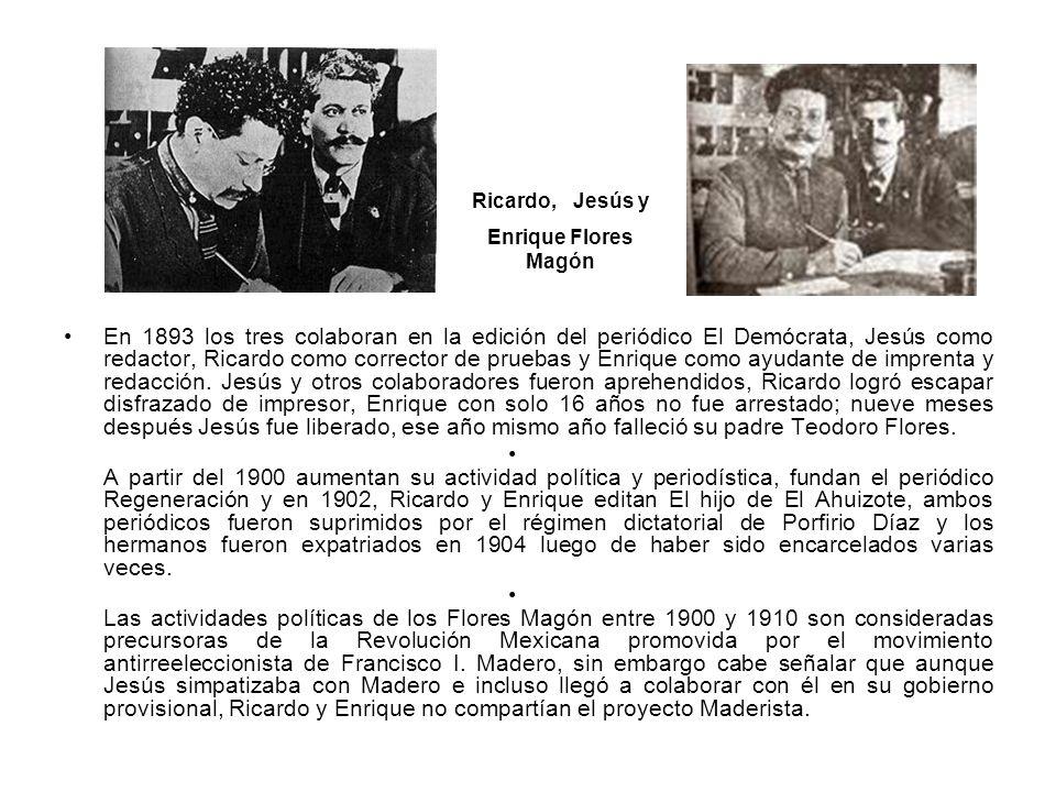 Ricardo, Jesús y Enrique Flores Magón