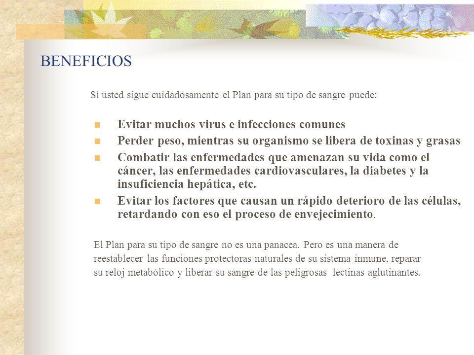 BENEFICIOS Evitar muchos virus e infecciones comunes