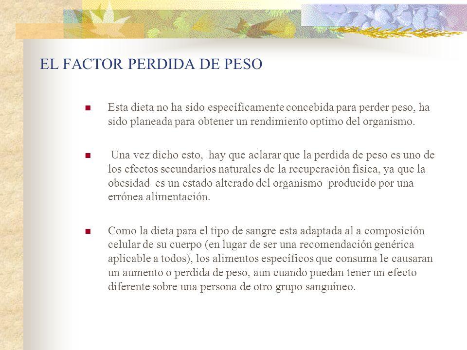 EL FACTOR PERDIDA DE PESO