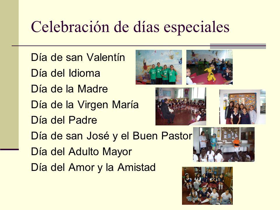 Celebración de días especiales