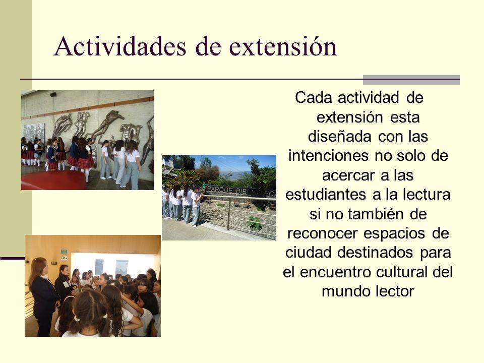 Actividades de extensión
