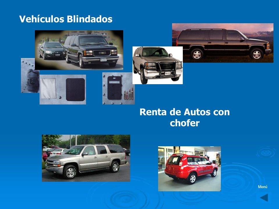 Renta de Autos con chofer