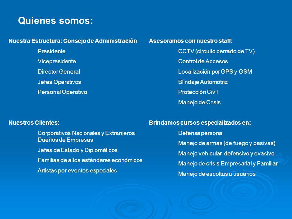 Quienes somos: Nuestra Estructura: Consejo de Administración
