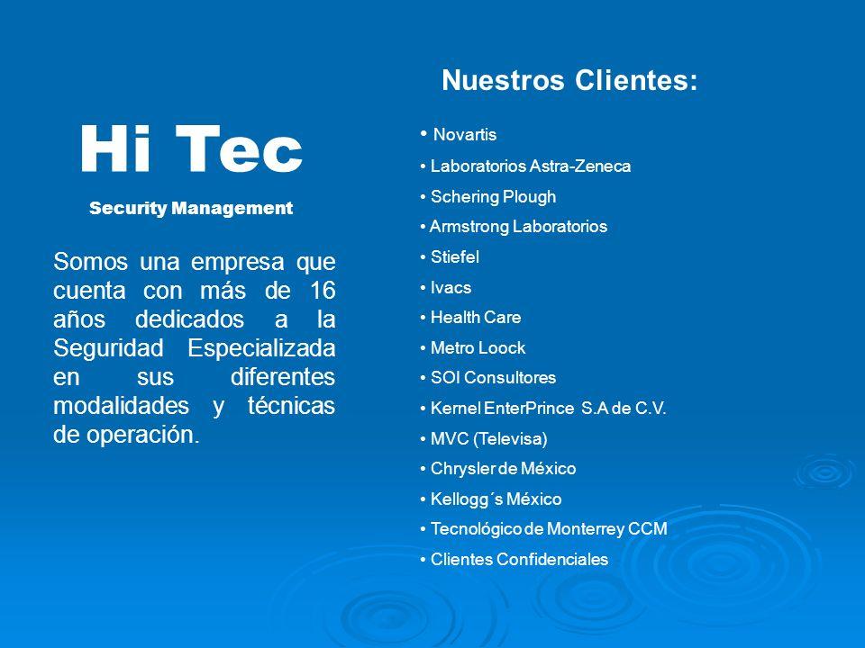 Hi Tec Nuestros Clientes: