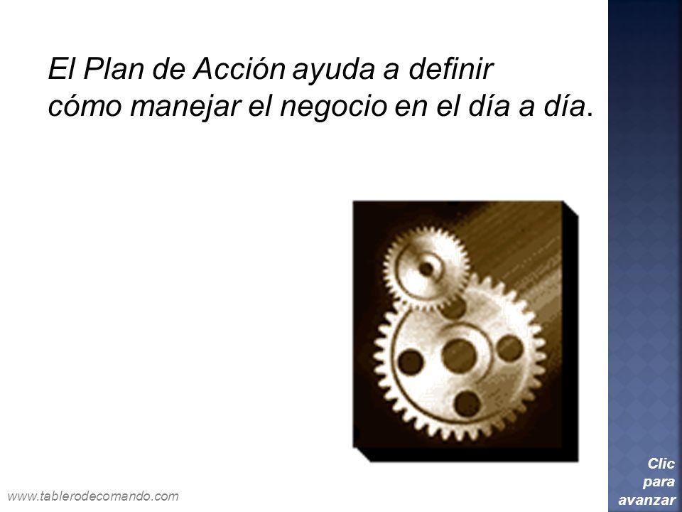 El Plan de Acción ayuda a definir